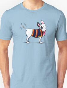 Bull Terrier in Blue Unisex T-Shirt