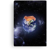 Funny Earth Egg Canvas Print