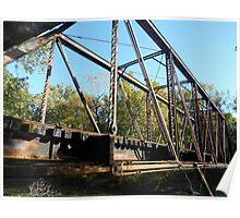 Mooresville Train Bridge Poster