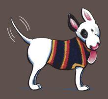 Bull Terrier in Blue {dark} Kids Clothes