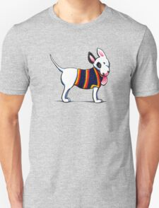 Bull Terrier in Blue {dark} T-Shirt