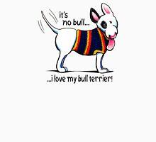 No Bull Love My Bull Terrier Men's Baseball ¾ T-Shirt