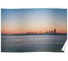 Seattle at Sunset Poster