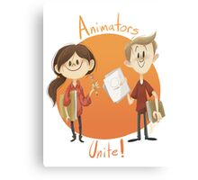Animators Unite Canvas Print