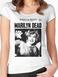 Marilyn Monroe - DEAD - Newspaper Women's Fitted Scoop T-Shirt