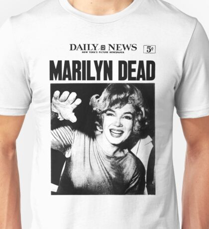 Marilyn Monroe - DEAD - Newspaper Unisex T-Shirt