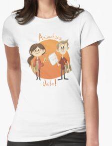 Animators Unite Womens Fitted T-Shirt