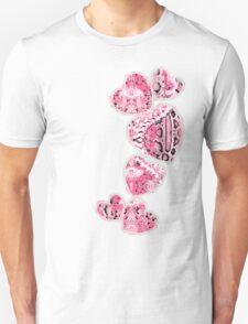 Pink Snake Heart Unisex T-Shirt