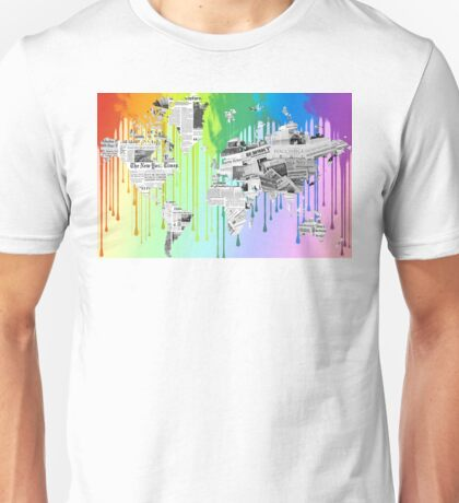 Dripping Colors Unisex T-Shirt