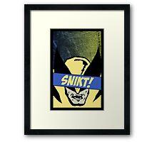 Wolverine Snikt! Framed Print