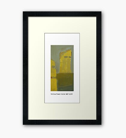 yellow tower 3  Framed Print
