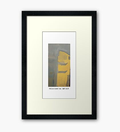 yellow tower 2 Framed Print