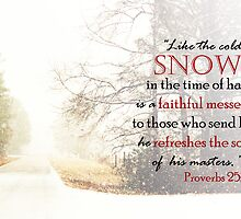 Snow - Proverbs 25:13 by sacredmoments