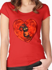Valentine for the heartless  Women's Fitted Scoop T-Shirt