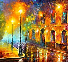 MISTY CITY by Leonid  Afremov