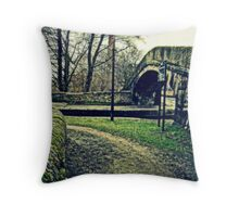 By the canal... Throw Pillow