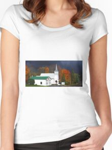 Small Town Women's Fitted Scoop T-Shirt