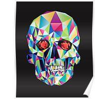 Geometric Skull Candy Poster
