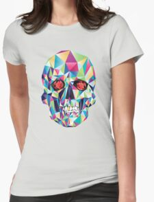 Geometric Skull Candy Womens Fitted T-Shirt