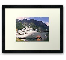 Cleaning the Rippled Bow Framed Print