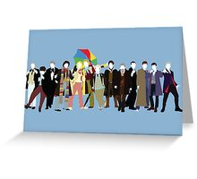 All Thirteen! (Version 3) - Doctor Who Greeting Card