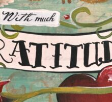 With much gratitude- a vintage tattoo inspired art print Sticker