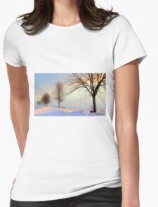Sunrise through the trees on 2-18-2014 in Sheboygan, Wisconsin T-Shirt