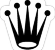 black rolex logo Sticker