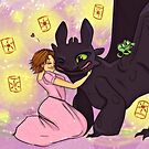 Toothless and Tangled by tonksiford