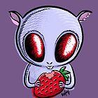 cute hamster with a strawberry by Kopfzirkus