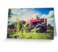 Red tractor / Tracteur rouge Greeting Card
