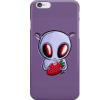 cute hamster with a strawberry iPhone Case/Skin