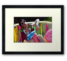 X CLAIM NATION- POOL PARTY Framed Print