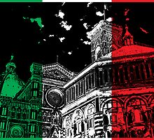 Florence Cathedral (Il Duomo) Flag by Marc Pollard