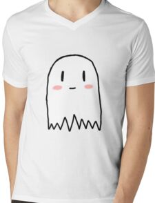 Cute Ghost Mens V-Neck T-Shirt