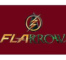 The Flash and Arrow (Team Flarrow) Photographic Print
