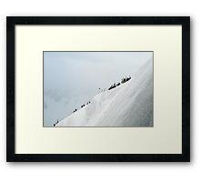 Snow ridge  Framed Print
