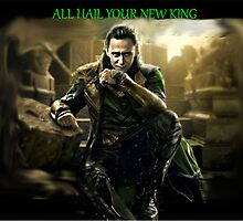 All Hail King Loki by neondeathstar