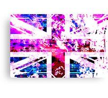 old circuit board United Kingdom (flag) Canvas Print