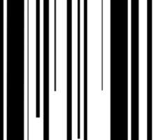 Little Red Barcode  Sticker