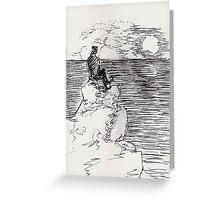 moon or sun Greeting Card
