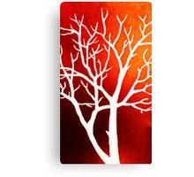 Blazing Trees Canvas Print