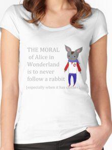 never follow a cute rabbit ever Women's Fitted Scoop T-Shirt