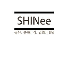 SHINee Group Name w/ Member Names by dotygonegreen