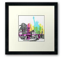 NYC CMYK Framed Print