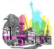 NYC CMYK Photographic Print