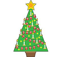 Danish Christmas Tree Photographic Print