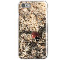 Ladybug on Beach iPhone Case/Skin