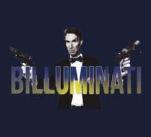 """BILL NYE THO """"Billuminati"""" Design Kids Tee"""