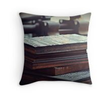 Printing Plates Throw Pillow